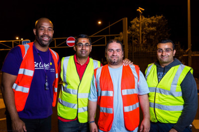 Volunteers ensure all taking part in the midnight walk remain safe