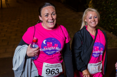 Disciples and members of the local community take part in the midnight walk in aid of St Luke's Hospice