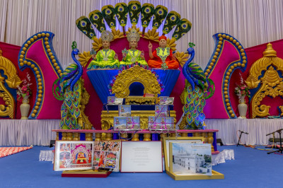 The collection of publications released on the occasion of the first anniversary of Shree Swaminarayan Mandir Kingsbury