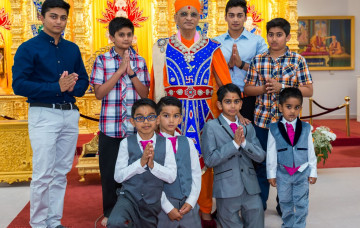 Janmashtami celebrations at Shree Swaminarayan Mandir, Kingsbury