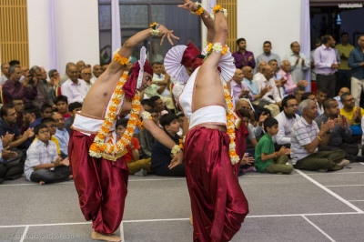 Devotional dance performance by disciples