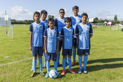 Swamibapa FC in their new team colours