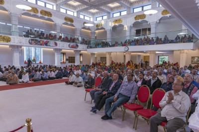 Hundreds of disciples gather at Shree Swaminarayan Mandir Kingsbury to enjoy the celebrations