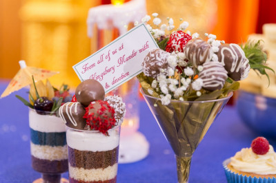 Delightful intricately crafted desserts are presented to the Lord