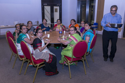 Disciples dine on prasad dinner