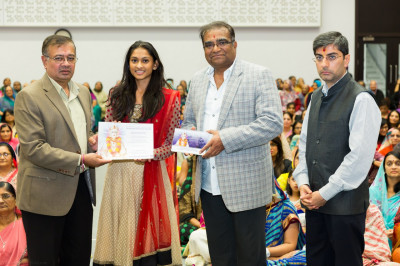 Dr. Sapna Parbat Hirani recognised for achieving registration as a medical practioner and is the first in London within the Swaminarayan Gadi family
