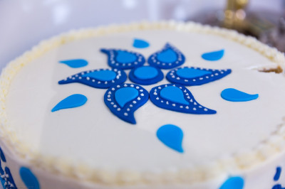 One of the many bright delicious celebration cakes