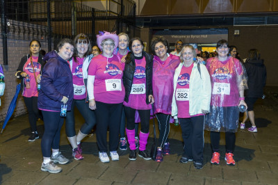 Participants gather at the starting point to take part in the midnight walk