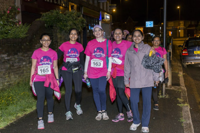 Participants take part in the midnight walk