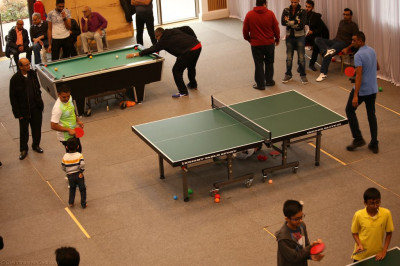 Disciples practice and compete in various pool, table tennis and darts games