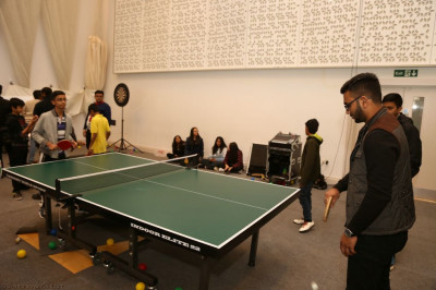Disciples play table tennis