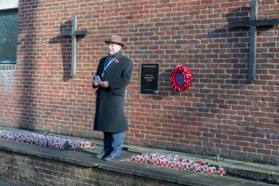 A final special prayer and speech marking the end of the Remembrance Sunday event