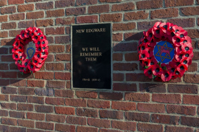 The poppy wreaths at New Edgware Royal British Legion Headquarters