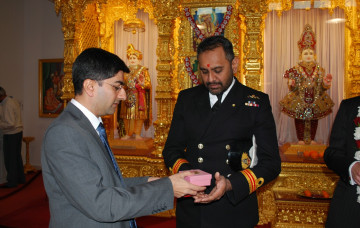 "Rear Admiral Graeme Mackay visits our ""breath-taking"" Mandir"