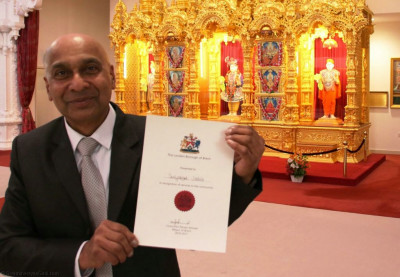 People from various Community and charities invited to have afternoon tea with Mayor of Brent Parvez Ahmed and Leader of Brent Muhammed Butt and receive a certificate of recognition for serving the community