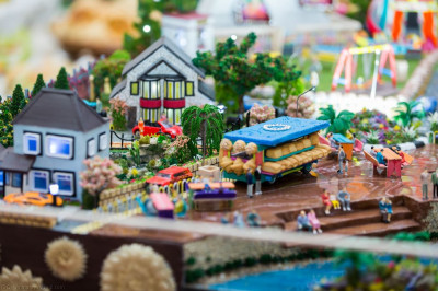The traditional Lake District village recreated from food items