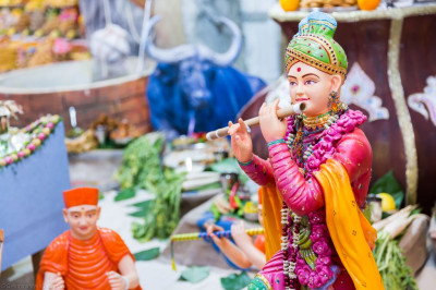 Divine darshan of Lord Shree Swamianrayan playing the flute