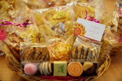 The prepared sweet and savoury gifts for Diwali and New Year