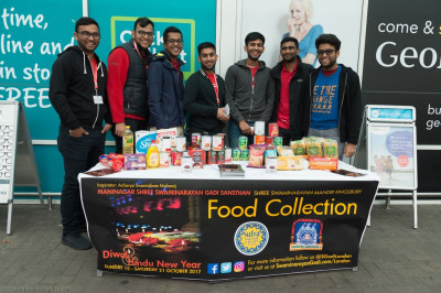 Disciples of Shree Swaminarayan Mandir Kingsbury spare their Sunday morning to collect food for the homeless this Diwali