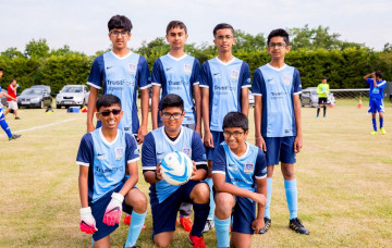 Swamibapa Football Club, part of Shree Muktajeevan Swamibapa Academy of Sport, took part in the annual SKLPC 5-a-side football tournament.