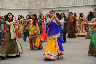 Disciples take part in a garba style and steps workshop