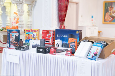 The prizes table
