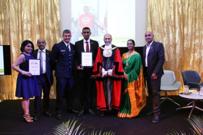 Community Champion of the Year awarded to Mukesh Rabadia for his services and drive to promoting and taking part in blood donation both personally and at Shree Swaminarayan Mandir Kingsbury