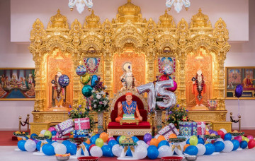 Acharya Swamishree Maharaj's 75th Manifestation at Kingsbury Mandir