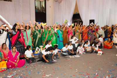 Disciples who take part in the many different activities that are all part of Shree Swaminarayan Mandir Kingsbury perform