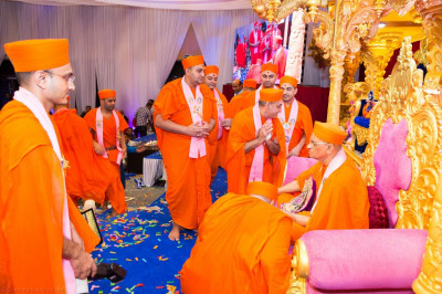 His Divine Holiness Acharya Swamishree blesses all sants