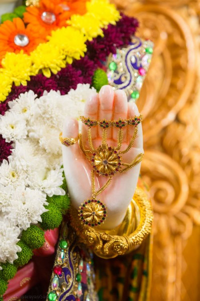 Divine darshan of the Lord blessing al