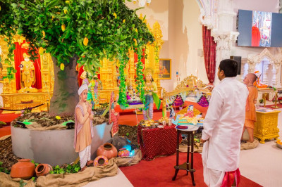 Aarti is offered to the Lord