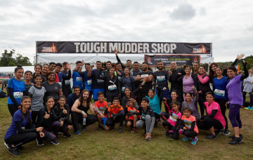 Over 40 kids and adults raise funds while proving they are the toughest mudders