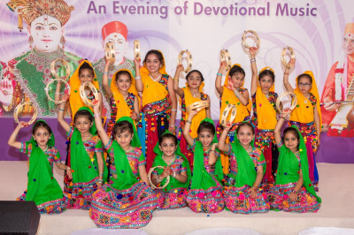 Young dsiciples perform a folk dance on a devotional song to please the Lord