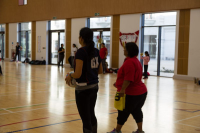Disciples take part in the netball tournament