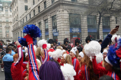 Over 8500 performers took part in the parade including cheerleaders from the US