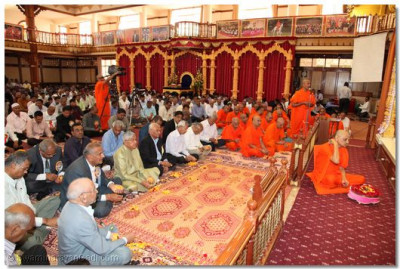 Disciples from around the world have gathered to take part in the Dashabdi Patosav ceremony