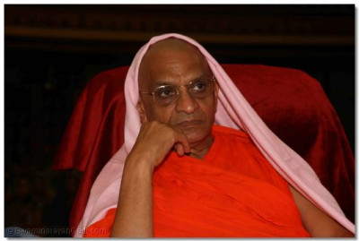 Acharya Swamishree watches the performances