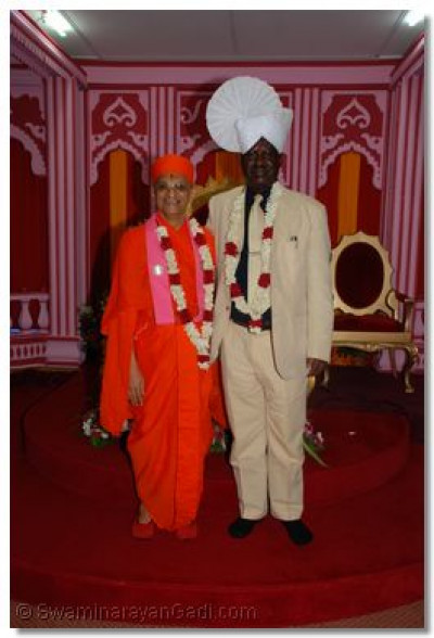 Acharya Swamishree and Hon. Raila Odinga