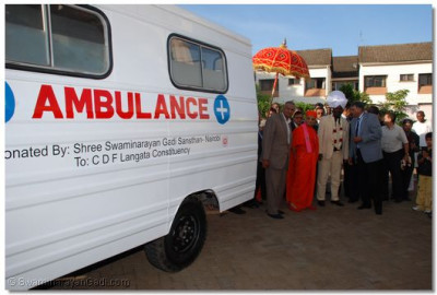 Donation of ambulance