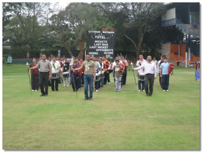 Band Members rehearse for the function at Nairobi Gymkhana Ground