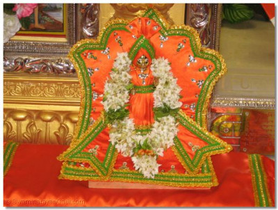 Darshan of Shree Harikrashna maharaj dressed in Indian national outfit attire