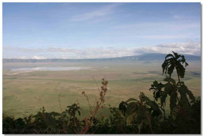 Beautiful view of Ngorongoro Crater