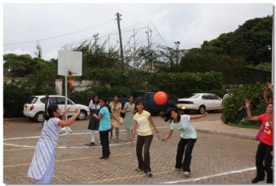 Players enjoy a game of Netball