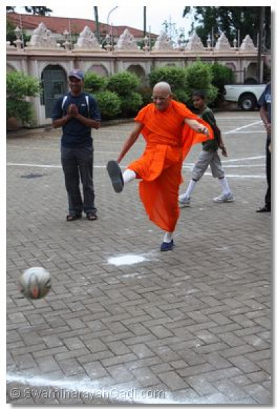 Acharya Swamishree scores from the  penalty spot