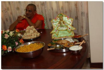 Lunch prasad at devotee's home