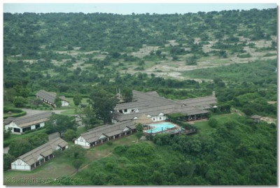 Aerial view of Mweya Lodge
