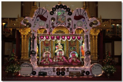 Hindola decorated with musical instruments
