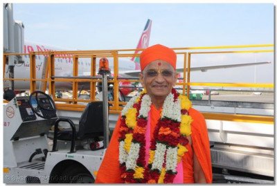 HDH Acharya Swamishree at JKIA