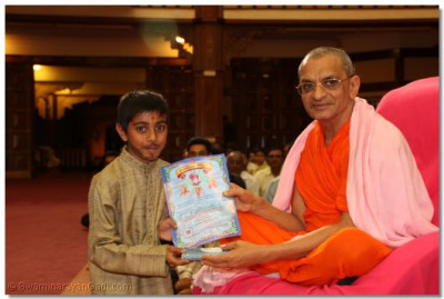 A devotee collects his certificate - Karate
